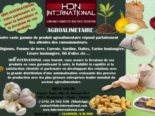 HDN INTERNATIONAL – Société mondiale de négoce international en Tunisie
