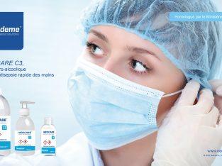 NEOCARE C3 gel hydro-alcoolique pour la désinfection des mains