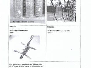 RECHERCHE FABRIQUANT EXPORTATEUR DE GRILLAGES & BARBELES