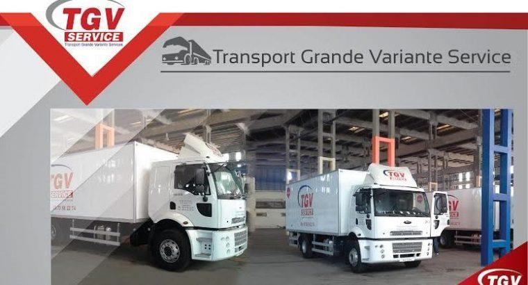 TGV service spécialisé dans le domaine du transport de Marchandises, l' Affrètement et la distribution.