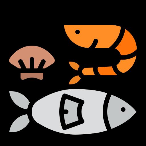 Fruits de mer, Poisson, Sardine et materiel associé