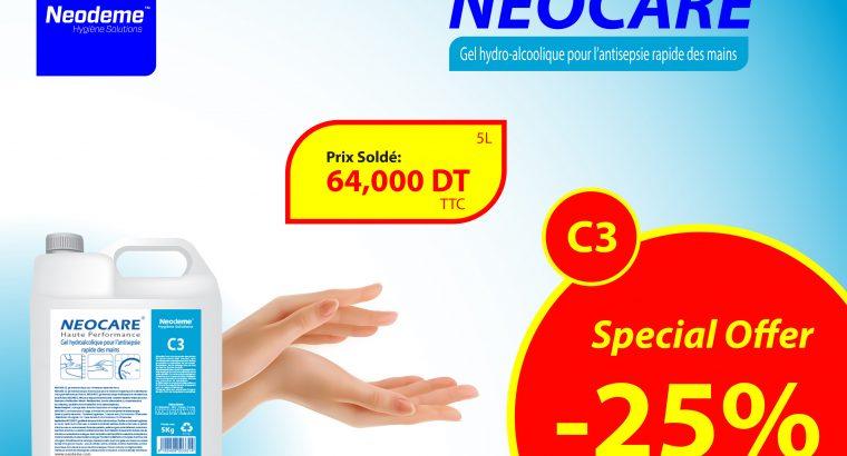 NEOCARE C3, Gel hydro-alc