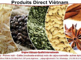 Importation des produits directe du Viêtnam