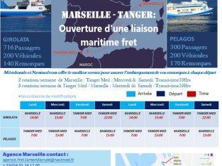 Nouvelle ligne roulant reliant Tanger à Marseille