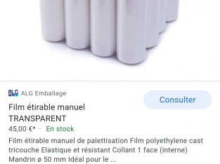 Film plastique emballage