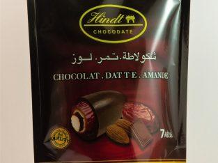 Dattes aux amandes grillées et chocolat