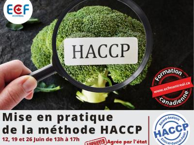 Mise en pratique Méthode HACCP