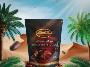 Dattes aux amandes grillées enrobée au chocolate
